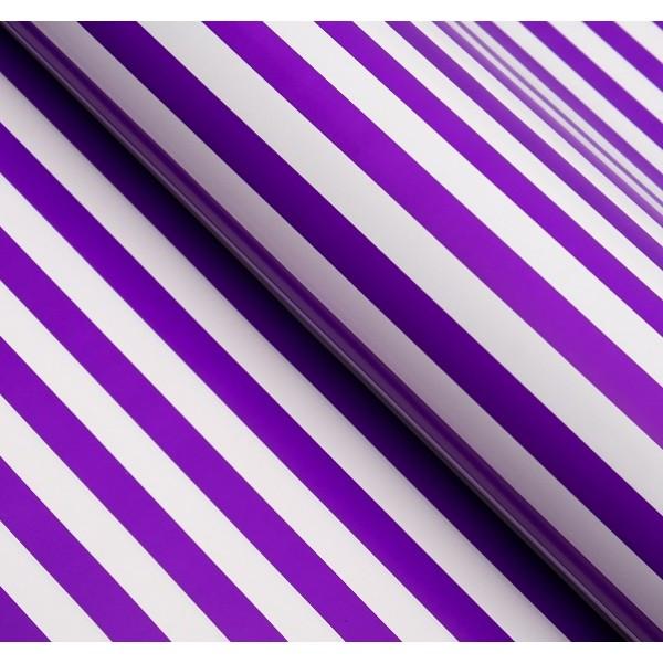 Бумага глянцевая, полоски, 49 х 70 см, фиолетовая