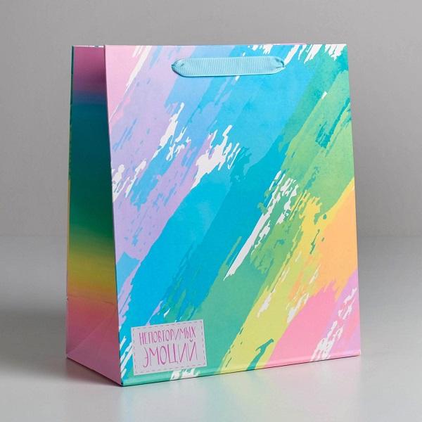 Пакет ламинированный вертикальный «Неповторимых эмоций», ML 23 × 27 × 11,5 см