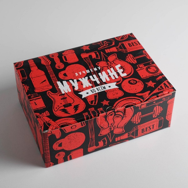 Коробка‒пенал «Лучшему мужчине», 26 × 19 × 10 см