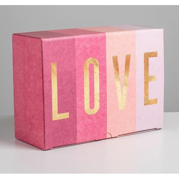 Коробка сборная «Любовь», 26 × 19 × 10 см