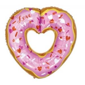 Шар (30''/76 см) Сердце, Пончик, 1 шт.