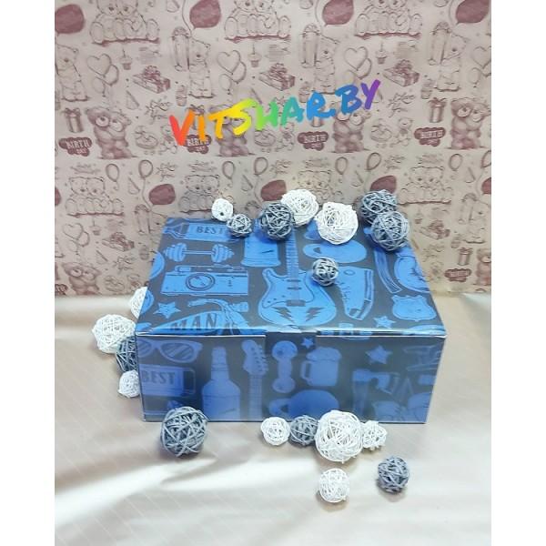 Коробка‒пенал «Лучшему мужчине», 30 × 23 × 12 см