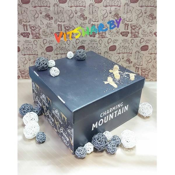 Коробка складная «Брутальность», 28 х 28 х 15 см