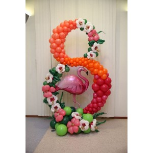 Фантазийная цифра из шаров