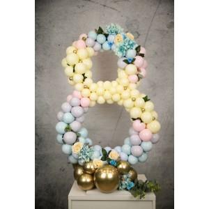 Фантазийная цифра из шаров 2