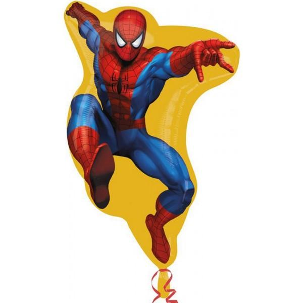 Фольгированный шар Человек паук (Красный)