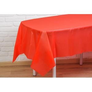 Скатерть п/э 140х275 см (Красный)